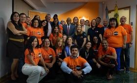 Equipo de UNFPA Venezuela con el Director Regional y el Jefe de Gabinete de la Oficina de la Directora Ejecutiva